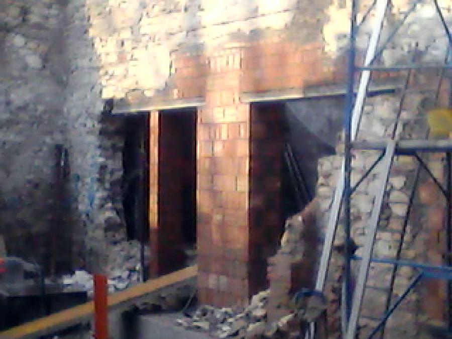 apertura porte nel muro perimetrale