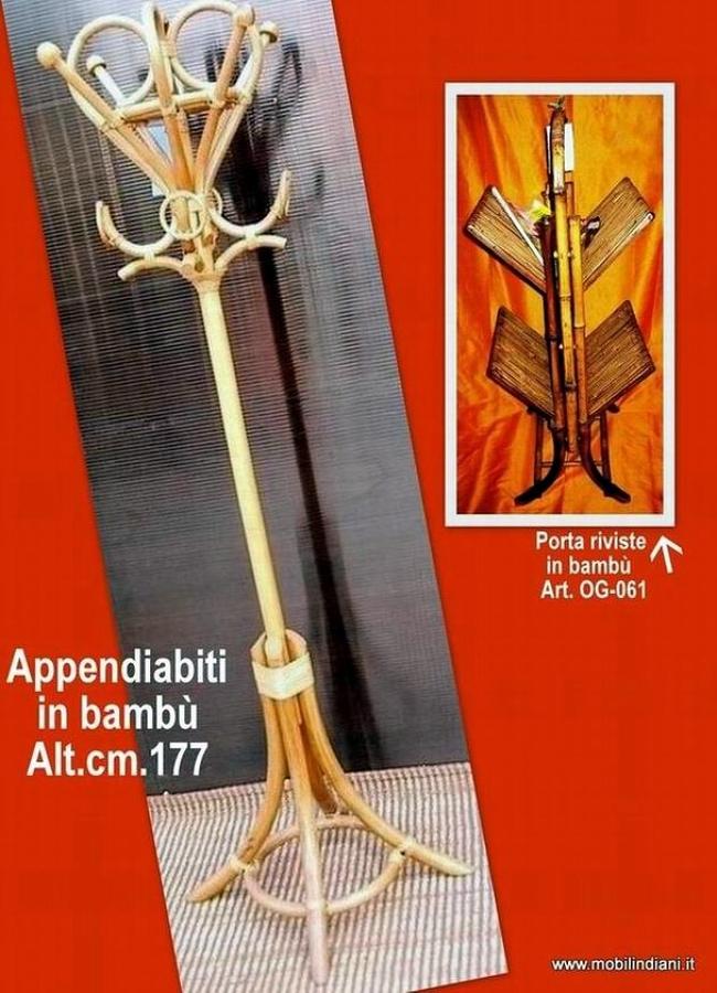 Foto appendiabiti etnico in bamb di mobili etnici 61482 - Mobili in bambu ...