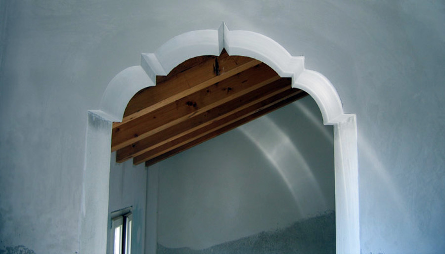 Arco In Cartongesso Colonne In Sasso Velatura Pictures to pin on ...