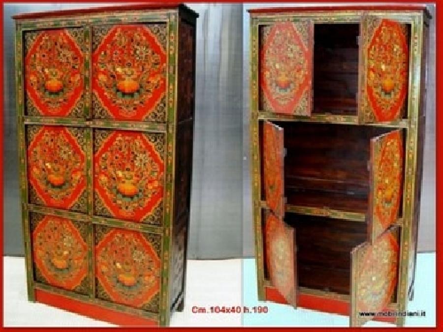 Foto armadio dipinto tibetano di mobili etnici 41035 - Mobili tibetani roma ...
