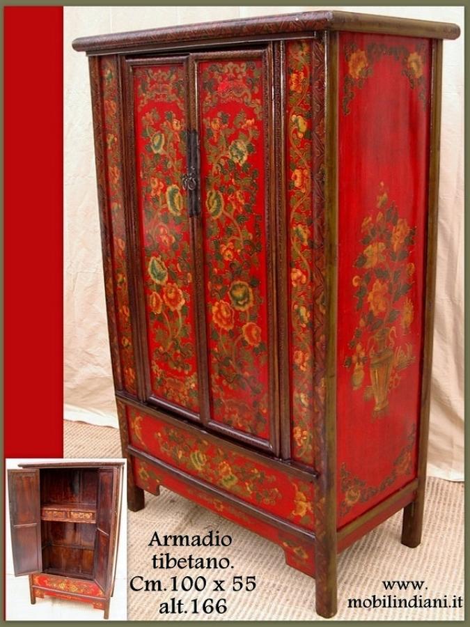 Foto armadio tibetano dipinto de mobili etnici 61417 for Mobili etnici roma
