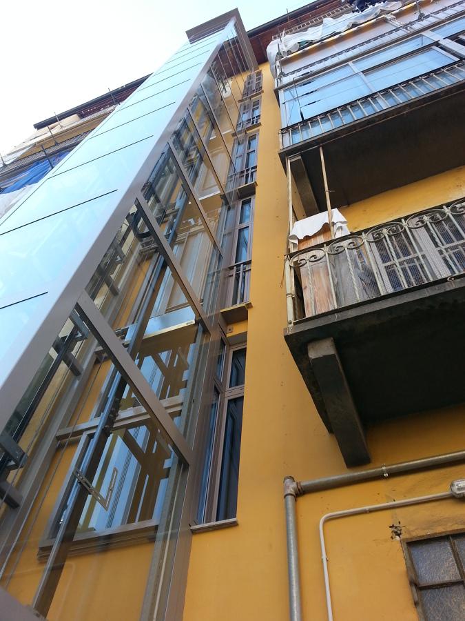 Ascensore esterno condominio interno di casa - Quanto costa un ascensore esterno ...