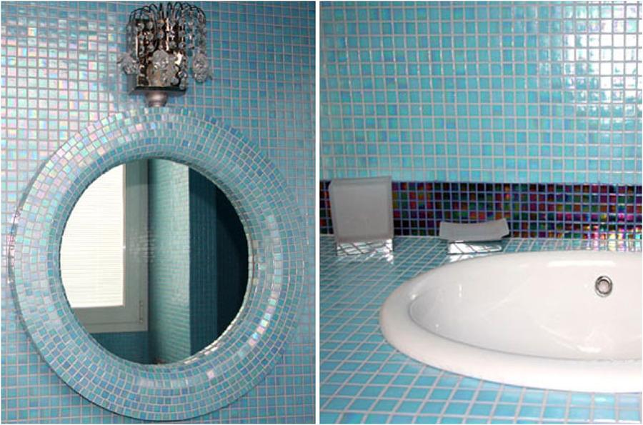 Rivestimento Bagno Mosaico Verde : Bagno mosaico azzurro