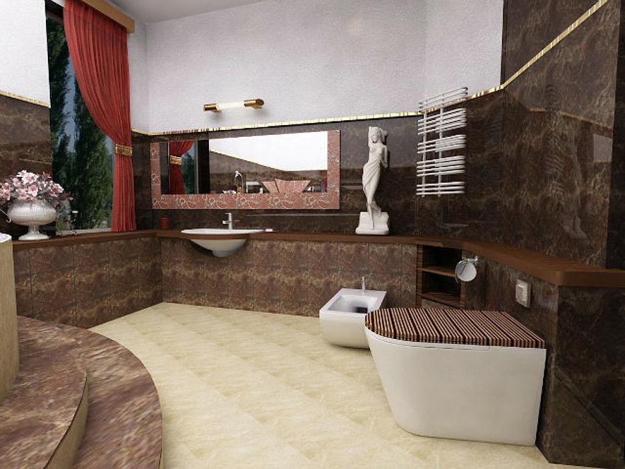 Foto bagno in marmo scuro e legno di style house - Bagno in legno ...