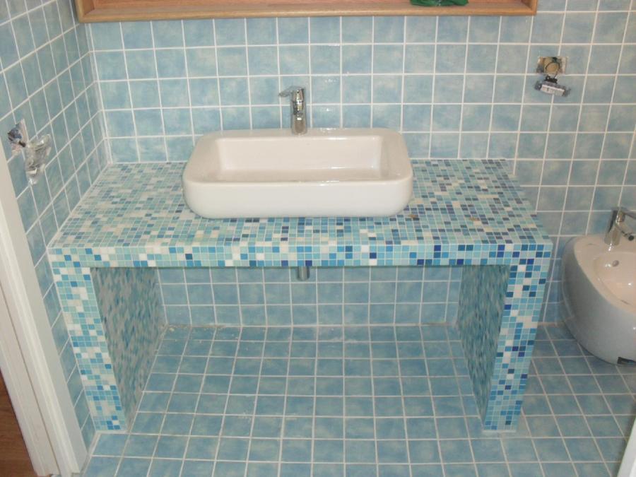 Foto bagno in mosaico di nicoedilizia 227292 habitissimo - Finto mosaico bagno ...
