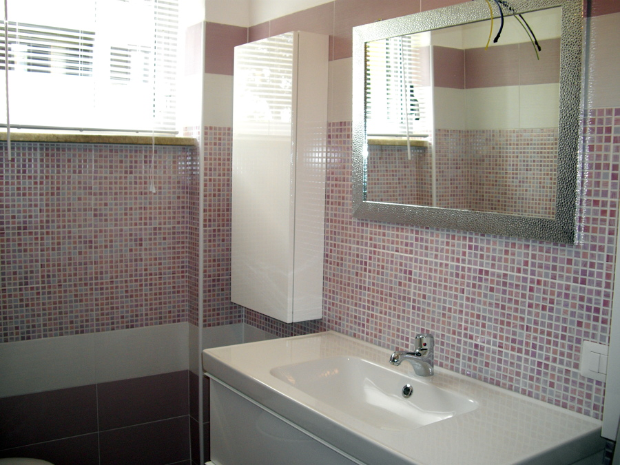 Bagno Con Mosaico Rosa : Bagni moderni mosaico blu. top amazing bagno marrone e beige mosaico