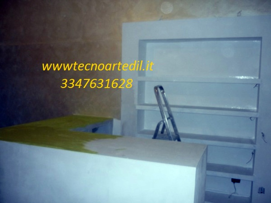 Foto: Bancone In Cartongesso Negozio Milano De Tecnoartedil #89145 - Habitissimo