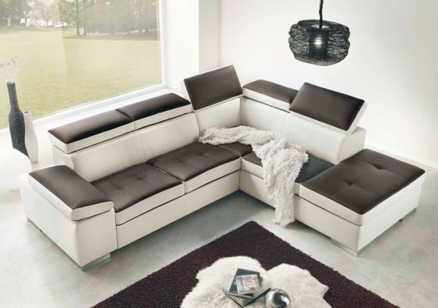 Foto divano con penisola evoluzione divani boston di soft for Ingrosso mobili trento