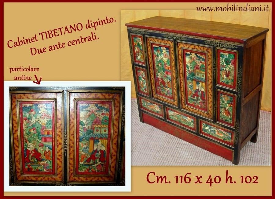 Foto cabinet tibetano dipinto di mobili etnici 61445 habitissimo - Mobili orientali roma ...