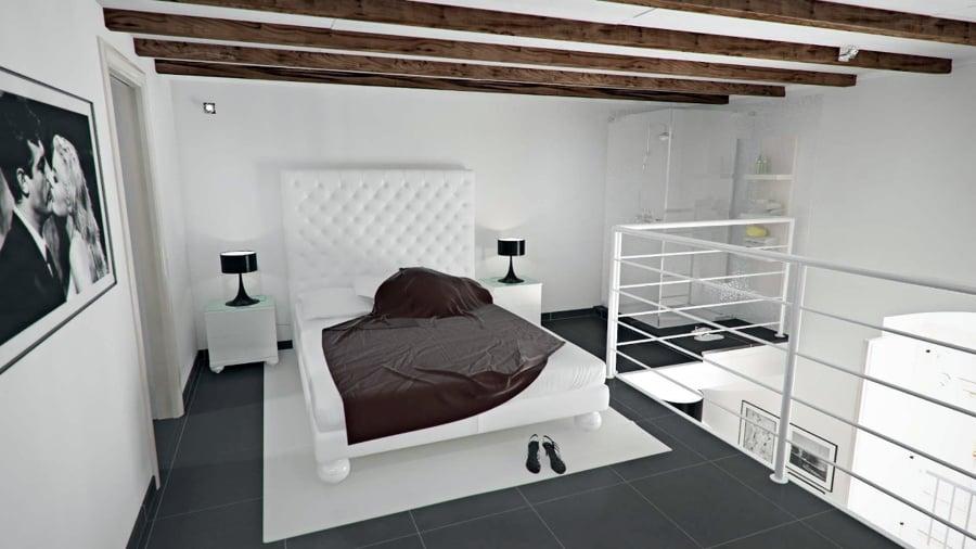 Foto camera da letto soppalcata vista 1 di fast design - Idee soppalco camera da letto ...