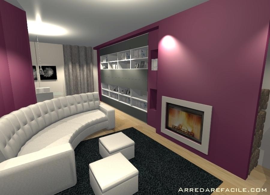 Foto: caminetto a cornice moderno di arredarefacile #109917 ...