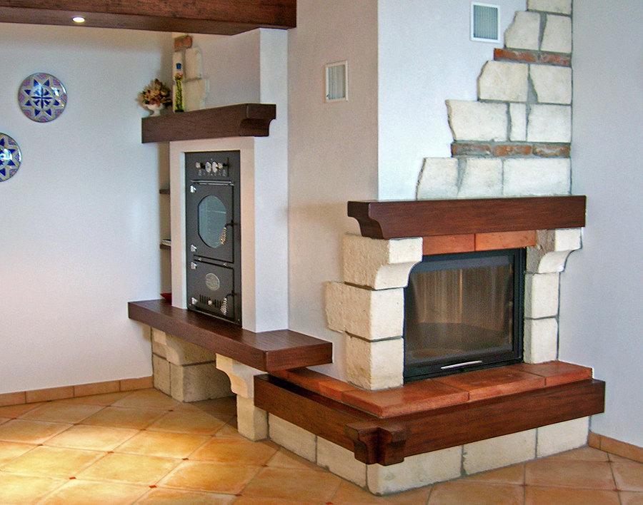 Foto caminetto con forno personalizzato di edil expert - Camino con forno ...