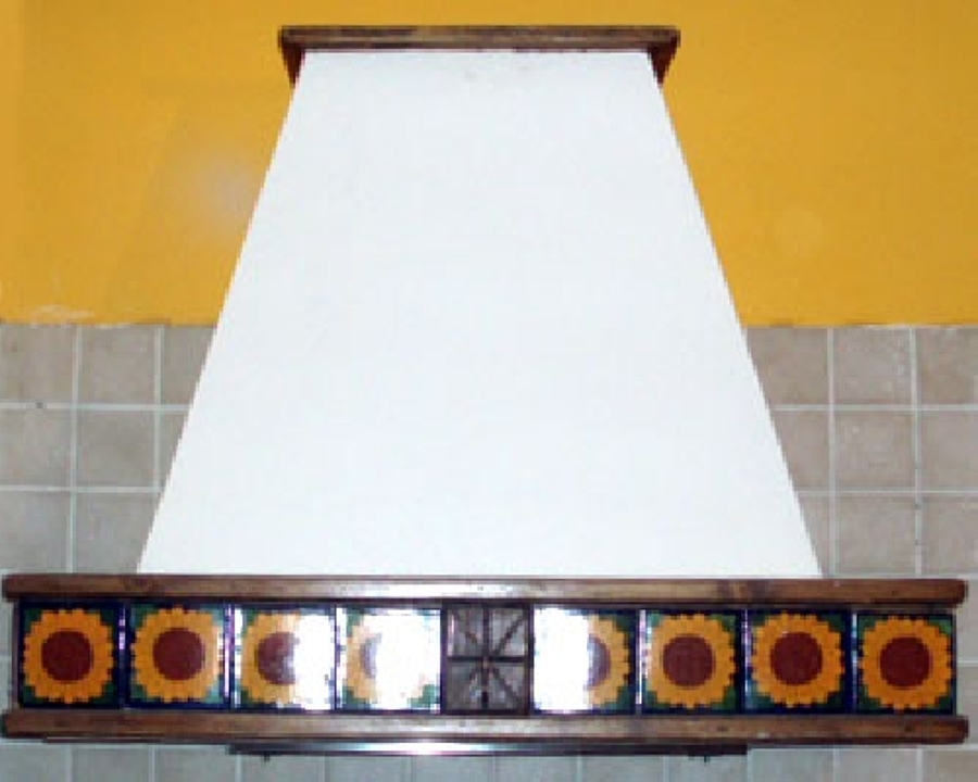 Cappa cucina decorata