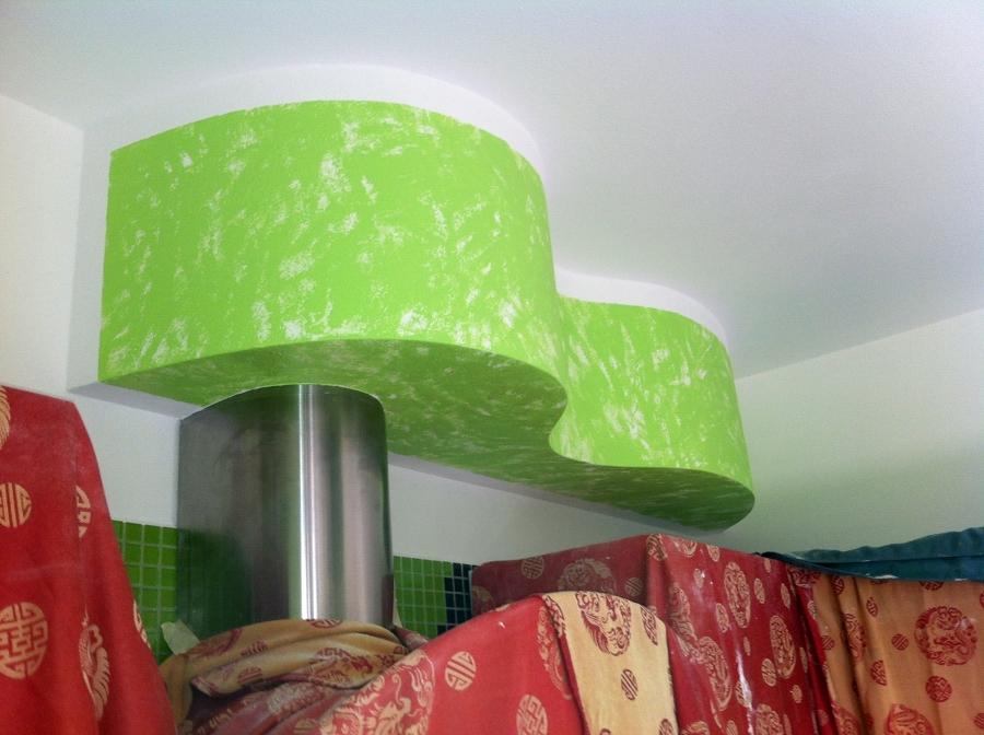 Foto: cappa di cucina costruita in cartongesso di ...