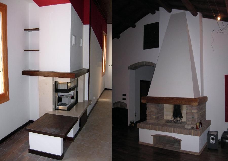 Foto cappe caminetti di habitatart 79160 habitissimo - Cappa camino cartongesso ...