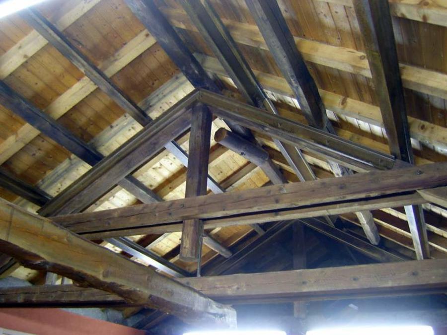 Capriata mista in legno/acciaio