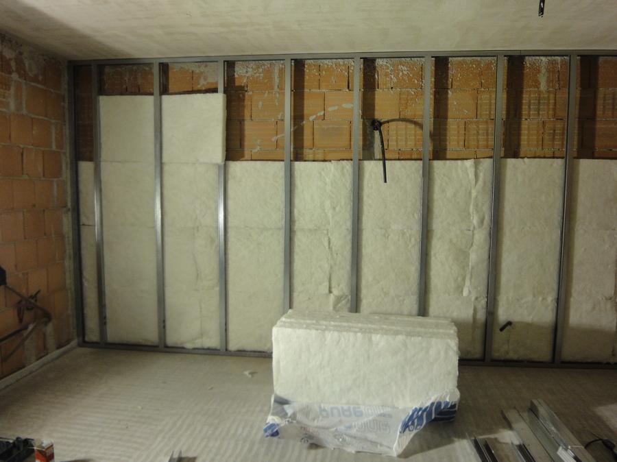 Foto cartongesso isolamento parete di dama costruzioni for Immagini di pareti in cartongesso
