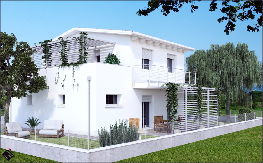 Foto casa monofamiliare classica di ecohouse edilizia for Ingresso casa classica