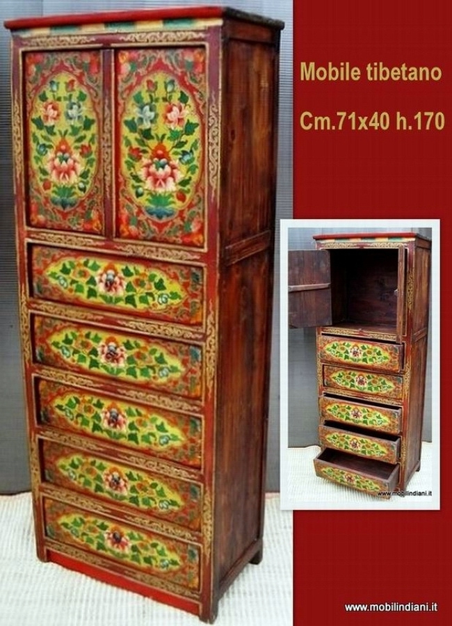 Foto cassettiera tibetana di mobili etnici 113646 habitissimo - Mobili etnici prato ...