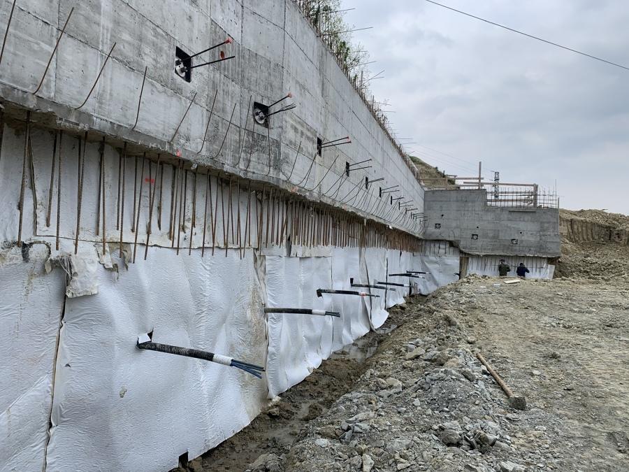 Muro Paratia con Palificazione per nuova Costruzione Villa Alba CN