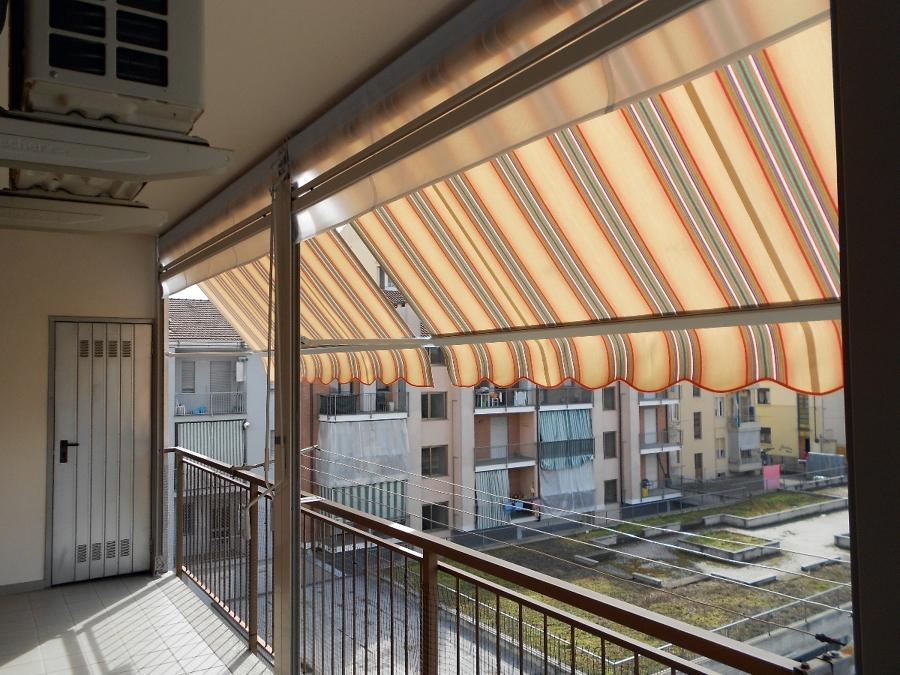 Foto: Chiusura Completa Balcone con Tenda Veranda doppio Rullo Estiva e Invernale e Pannelli ...