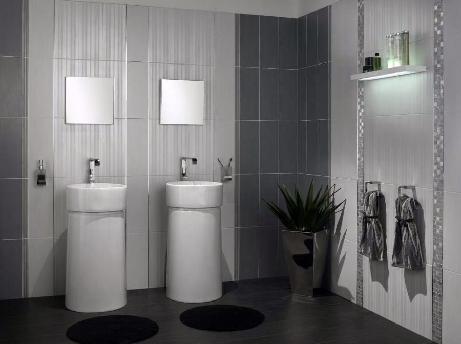 Piastrelle bagno grigio latest genesis colour bianco with