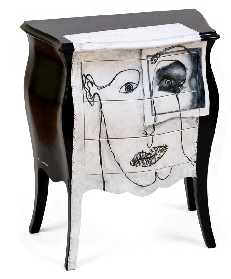 Pin dipinti ispirati a tamara de lempicka seletti mucca for Mobili decorati moderni
