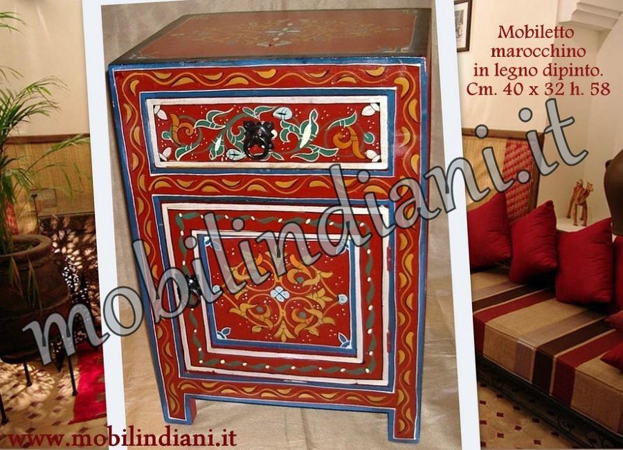 Foto comodino marocchino dipinto de mobili etnici 146006 habitissimo - Mobili etnici prato ...
