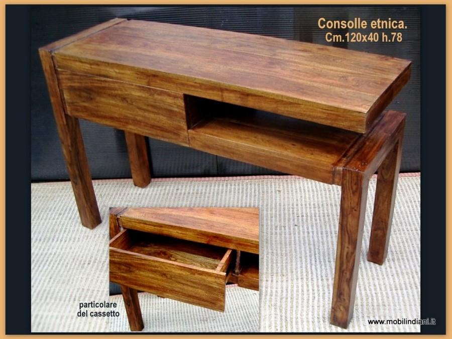 Foto consolle etnica in legno massello de mobili etnici 61434 habitissimo - Mobili etnici prato ...
