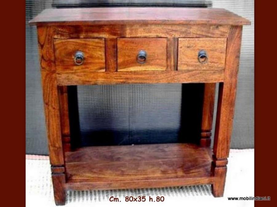 Foto consolle indiana con cassetti di mobili etnici for Consolle con cassetti