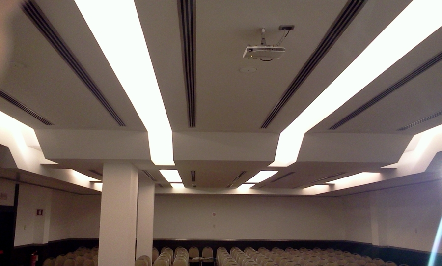 Foto controsoffitto in cartongesso presso sala convegni for Cartongesso sala