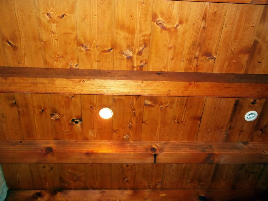 Controsoffitto in legno massello