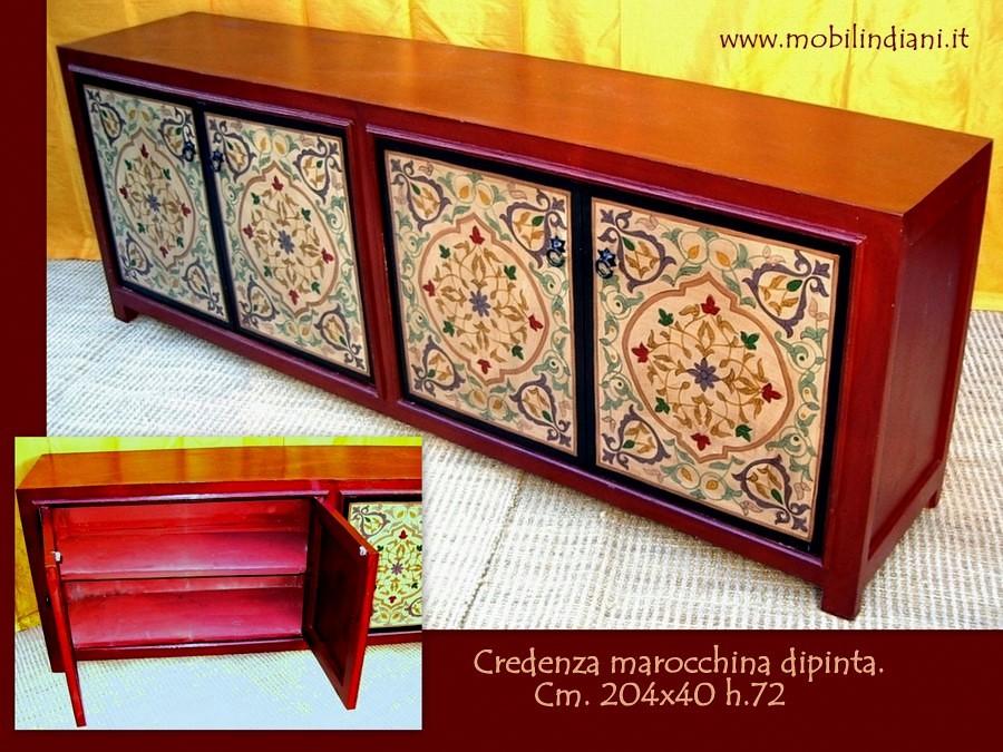 Foto credenza dipinta marocchina de mobili etnici 49585 habitissimo - Mobili etnici prato ...