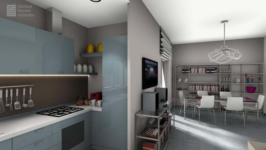 Foto: Cucina Aperta sul Soggiorno di Gianluca Ferranti Architetto #267965 - Habitissimo
