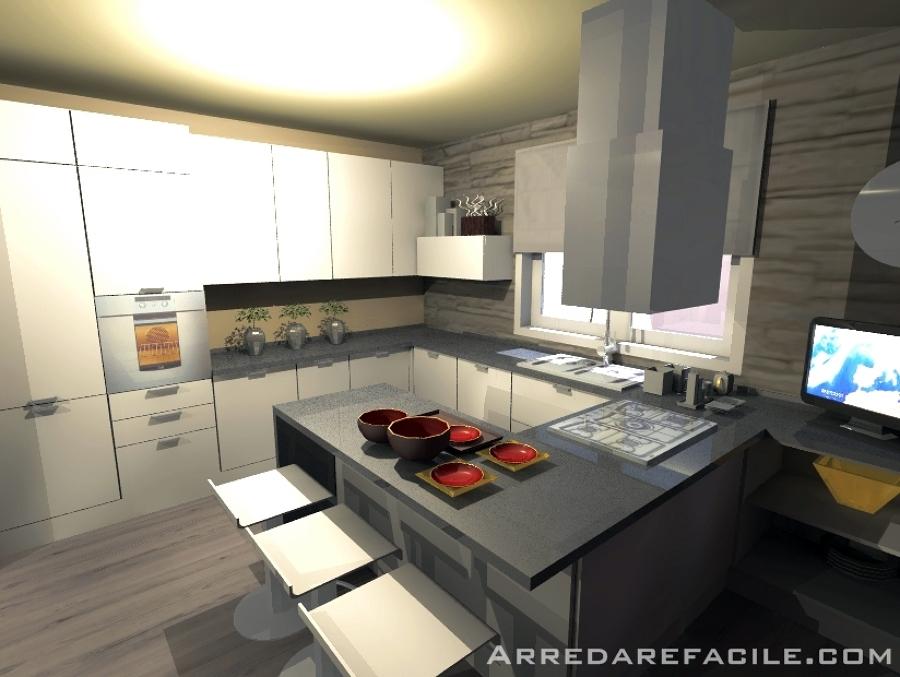 Foto cucina con penisola snack di arredarefacile 109910 habitissimo - Cucina con penisola ...