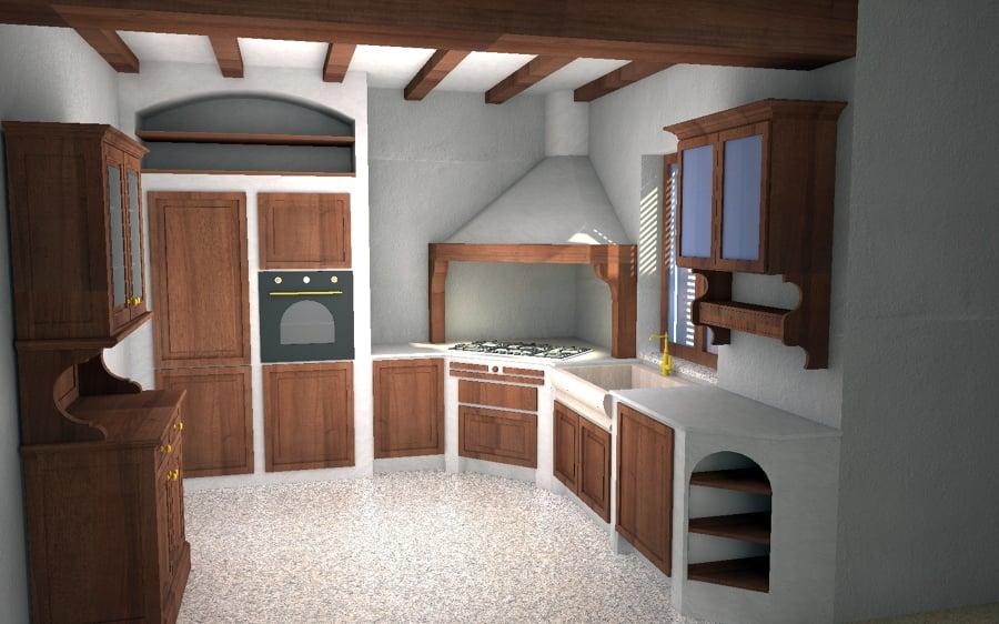 progettare cucina 3d progetto 1 esempio di render cucina 3d cucina ... - Disegnare Cucina 3d