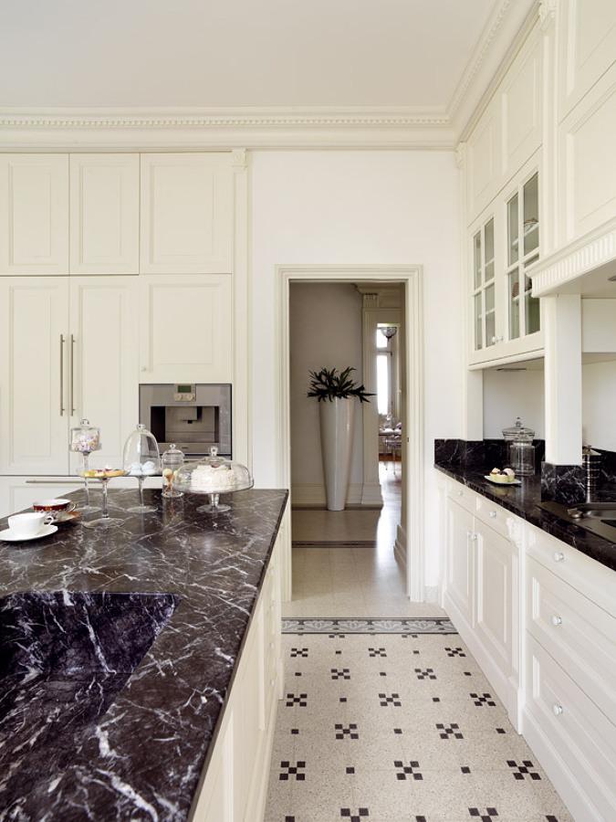 Foto cucina in graniglia di superfici milano 204233 for Pavimenti in graniglia e arredamento moderno