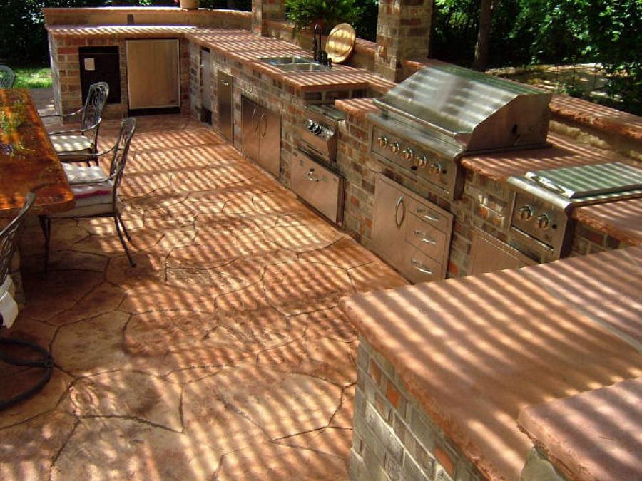 Foto cucina in muratura esterna di edyle di falcone - Cucine in muratura rustiche da esterno ...