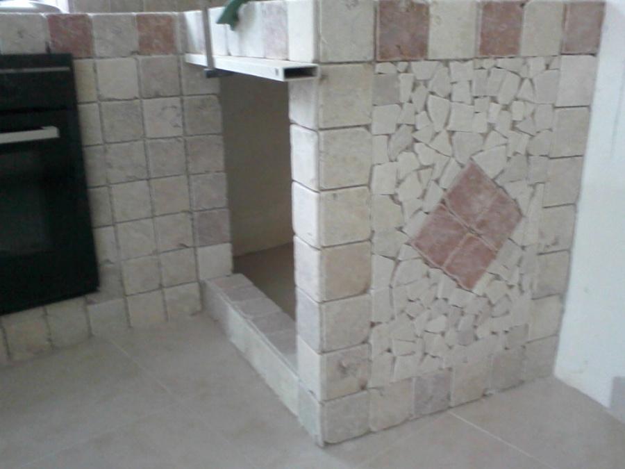 Foto cucina in muratura di impresa edile antonio iacono 165827 habitissimo - Rivestimento cucina in muratura ...