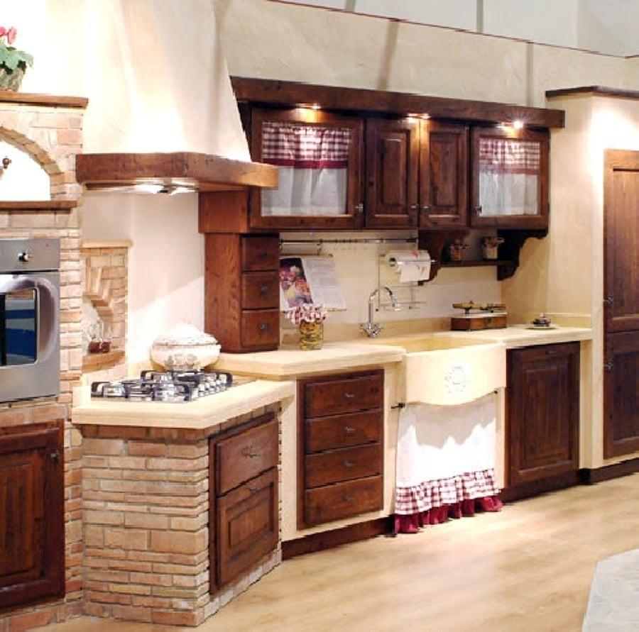 Foto cucina in muratura di caminetti carfagna 62391 for Tendine per cucina rustica