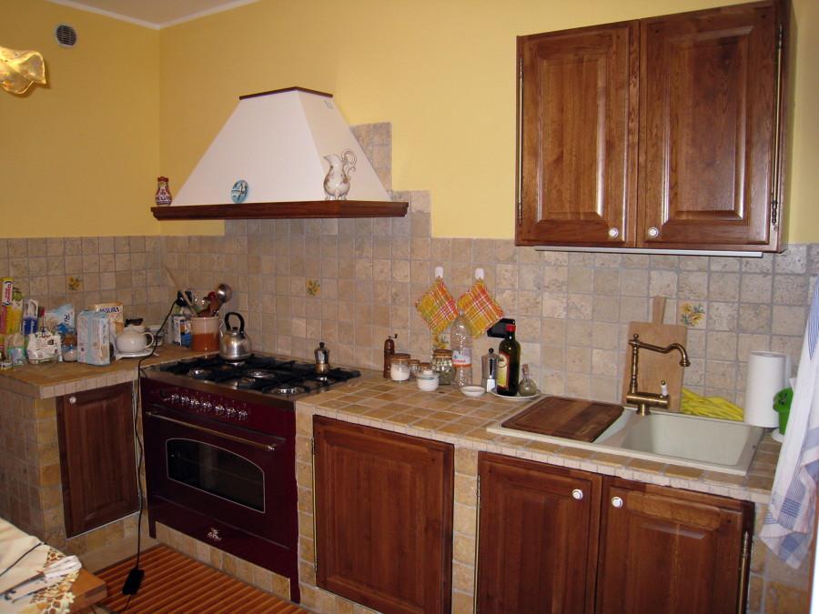 Foto cucina in muratura di bioarchitetture 80709 - Foto cucina in muratura ...