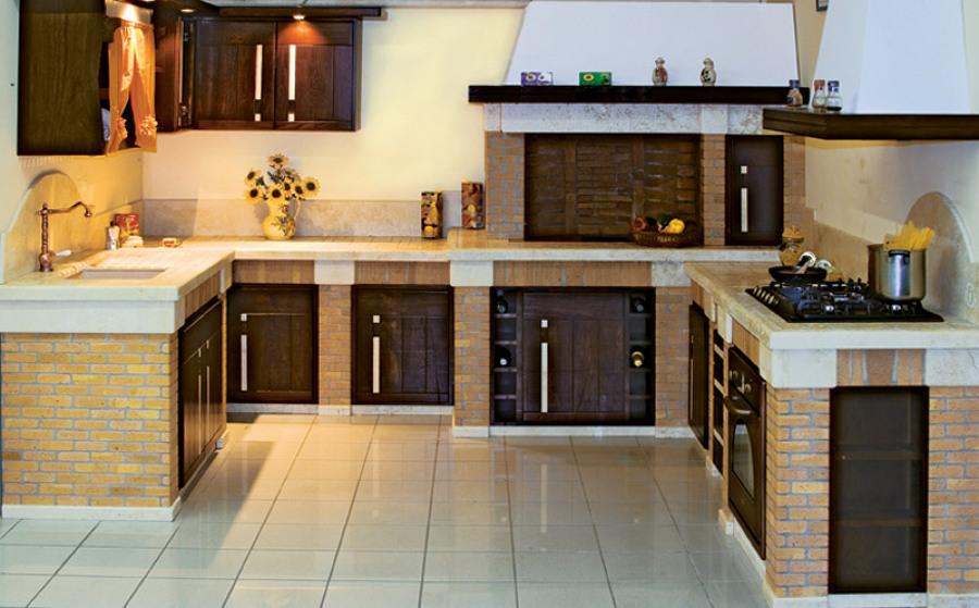 Foto cucina muratura di lavori edili di marchese - Cucina muratura fai da te ...