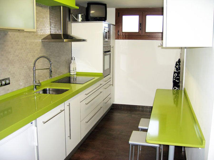 Cucina top quarzo Silestone verde