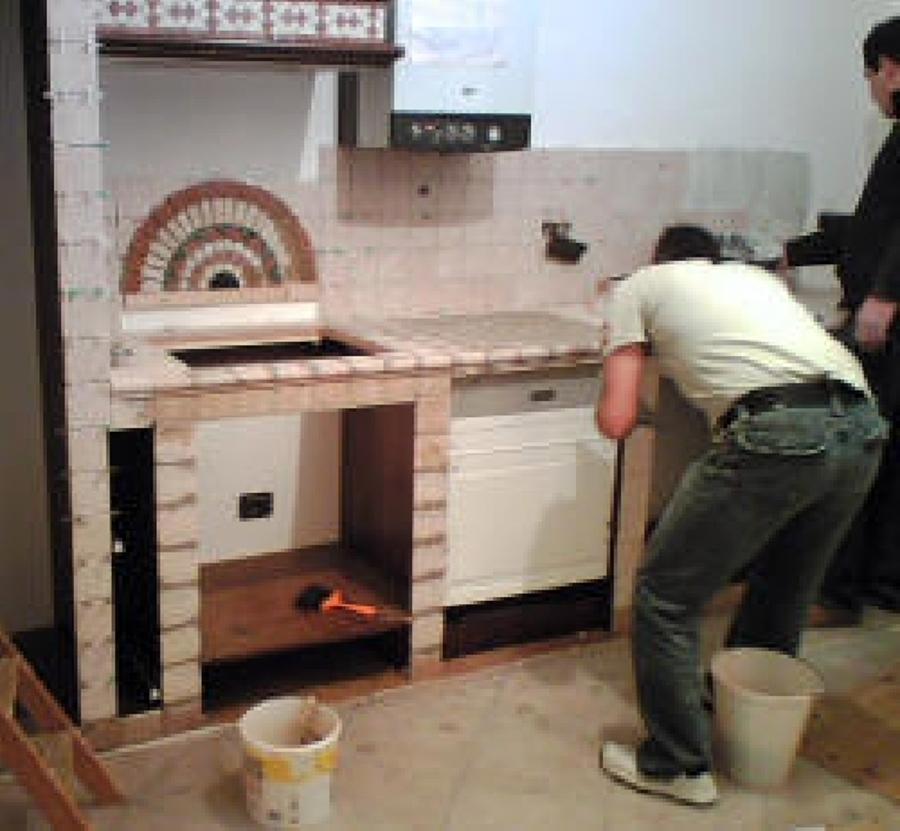Foto cucine in muratura di ristrutturazioni edili - Cucine in muratura palermo ...