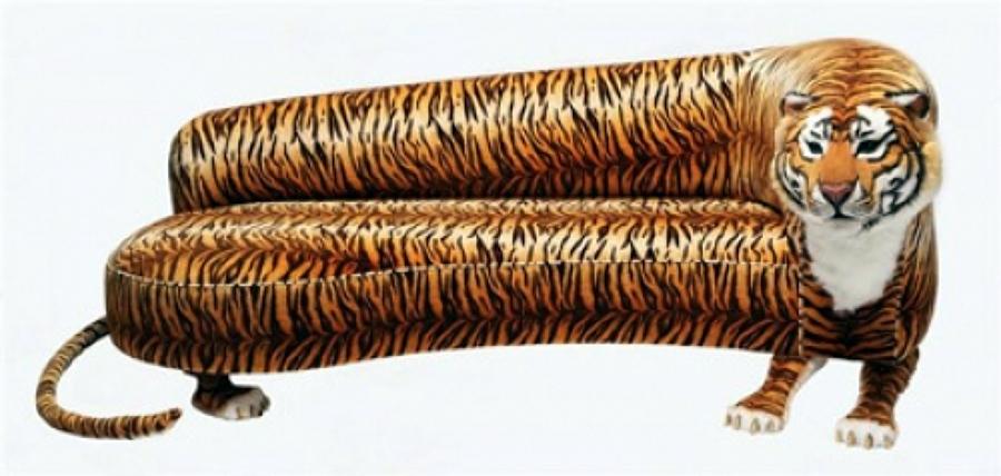 divano a forma di tigre con velluto in cotone opera unica brevetto