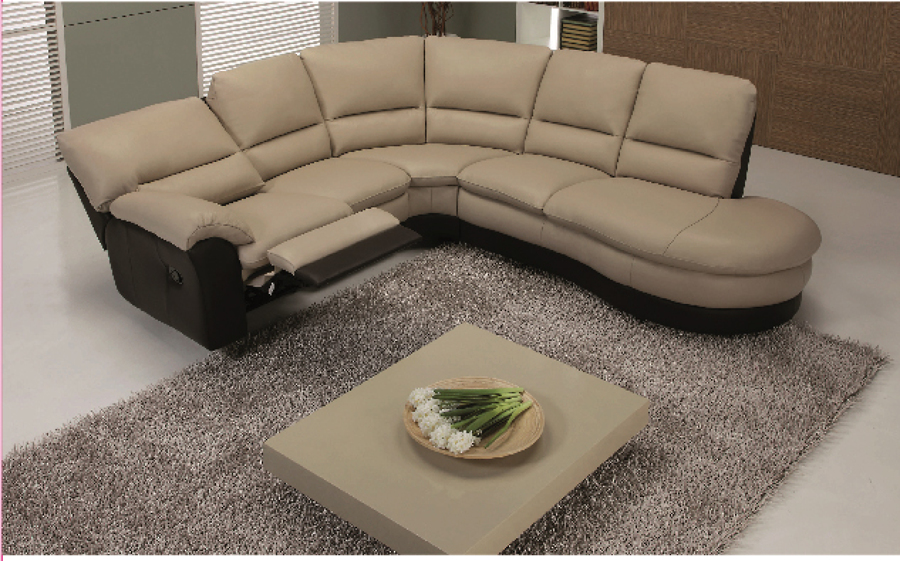 Foto divano angolare con relax di poltrone divani for Divano 4 posti relax