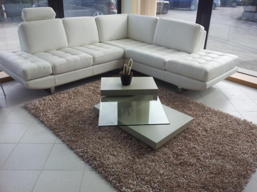 Foto divano angolare in pelle seduta comoda di mida srls 218739 habitissimo - Copridivano angolare per divano in pelle ...