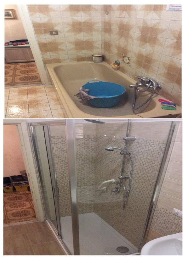 vasca in doccia per persona disabile