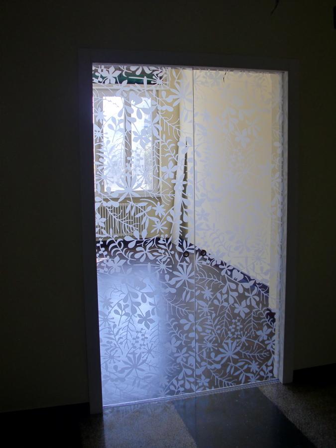 Foto doppia porta scorrevole in cristallo de - Porta scorrevole cristallo ...