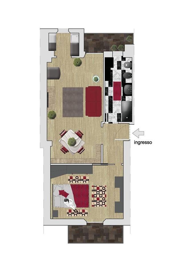 esempio di bozza di progetto di ristrutturazione di un appartamento